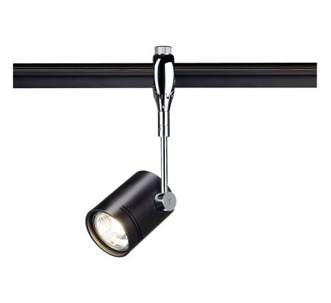SLV 185450 Bima I Black spotlight for Easytec II Chrome and Black, Dimmable, Requires GU10 LED