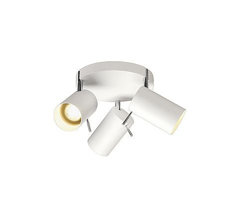 SLV 147414 ASTO TUBE 3 wall and ceiling White, dimmable, requires GU10 lamps