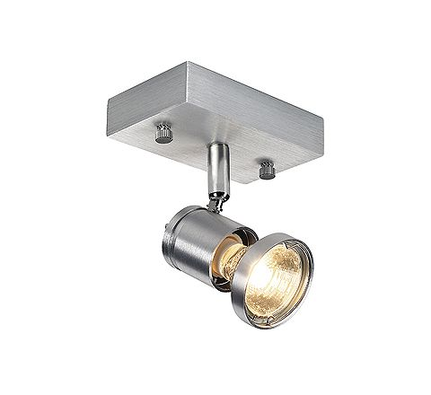 SLV 147441 ASTO I wall and ceiling luminaire Alu Brushed GU10 spot 75W