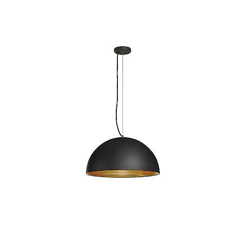 SLV 155930 FORCHINI M pendant lamp PD-1 50cm Black and Gold, dimmable, requires E27 lamp