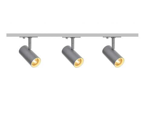 MLS 800159 Noblo x 3 Track Lighting Kit Silver Grey (1m Track Kit) Non Dimmable