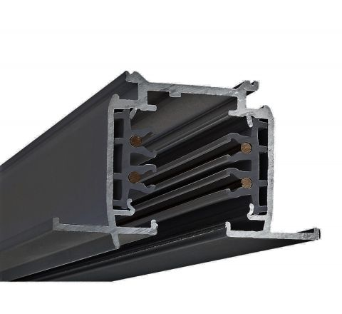 Powergear PRO-R410-B Recessed Multi Circuit Track Black 1m