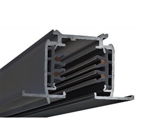 Powergear PRO-R420-B Recessed Multi Circuit Track Black 2m