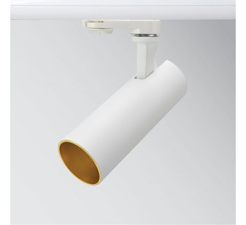 Tube 12W 850lm 3000K Matt White Gold insert Dimmable