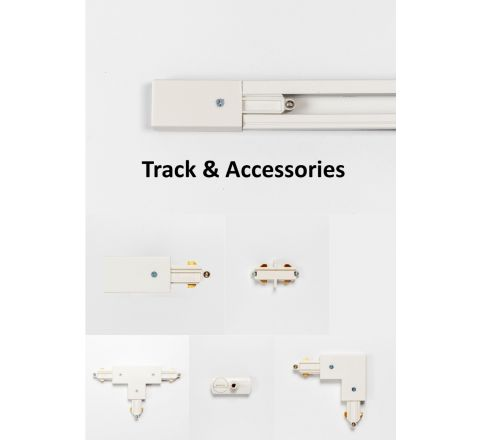 White Single Circuit Track and Accessories