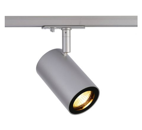 Enola B Track Silver Grey Dimmable, requires GU10 LED