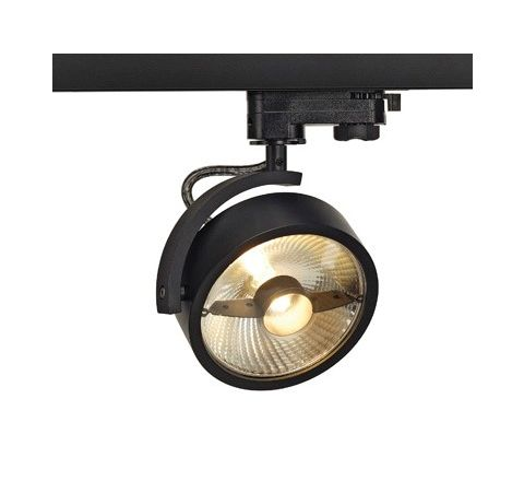 SLV 152610 KALU TRACK QPAR111 lamp head Black, Dimmable, requires ES111 LED lamp