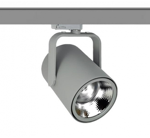 Spigot Multi Circuit LED Track Spot Grey CRI90 available in 1100lm, 2000lm, 3000lm and 4000lm output