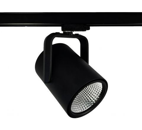 Spigot Multi Circuit LED Track Spot Black CRI90 available in 1100lm, 2000lm, 3000lm and 4000lm output