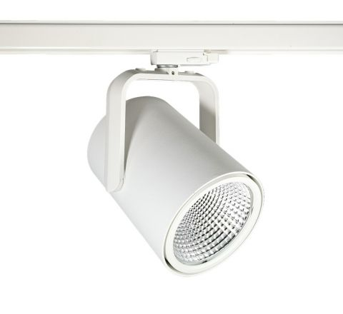 Spigot Multi Circuit LED Track Spot White CRI90 available in 1100lm, 2000lm, 3000lm and 4000lm output
