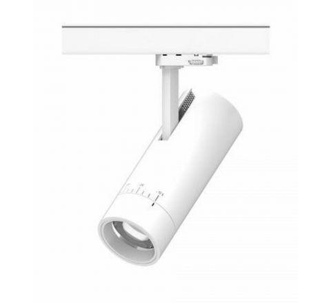 Zoom Major White Multi Circuit Track Spot Dimmable Adjustable beam 15 - 60 degree CRI90