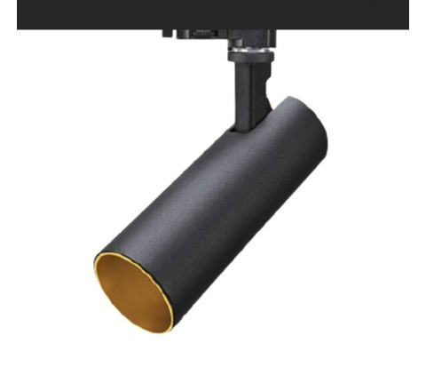 Tube 12W 850lm 3000K Matt Black with Gold insert Dimmable