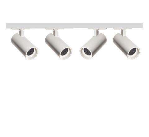 Tube White Honeycomb x 4 Track Lighting Kit White Dimmable (2m Track Kit)