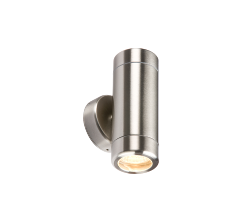 MLS UDGU10SS Up Down Heavy Guage Stainless Steel GU10 Wall Light